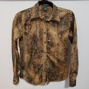 3/25 Lauren Ralph Lauren Python Snake Print Shirt
